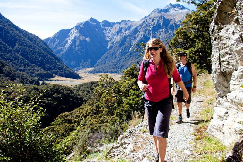 Wandern im Siberia Valley, Mt Aspiring National Park
