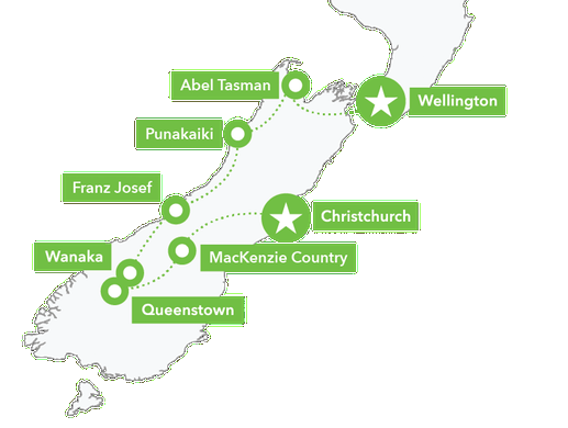 Map 11Day South Island