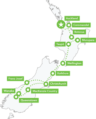Map 16Day North and South Island