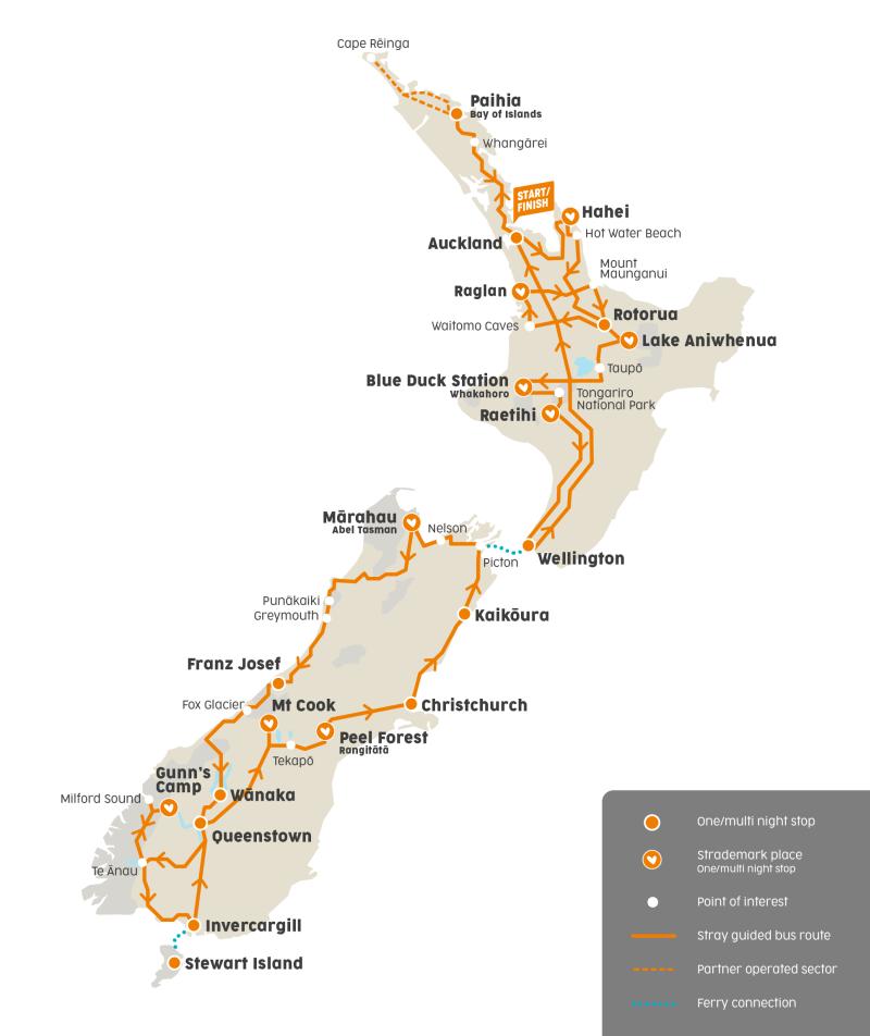 Unterwegs durch Neuseeland mit dem Hop-on Hop-off Buspass